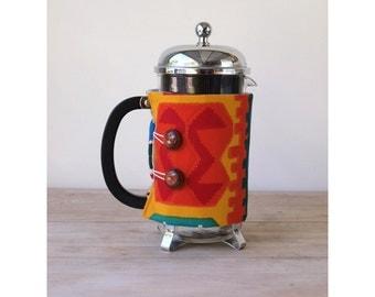 Bodum French Press Coffee Cozy - Tribal Geometric Style -