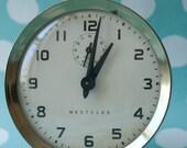 Vintage Aqua Westclock Alarm Clock