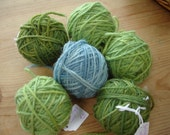 Plant dyed knitting yarn