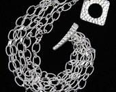 Sterling Silver Chains Bracelet