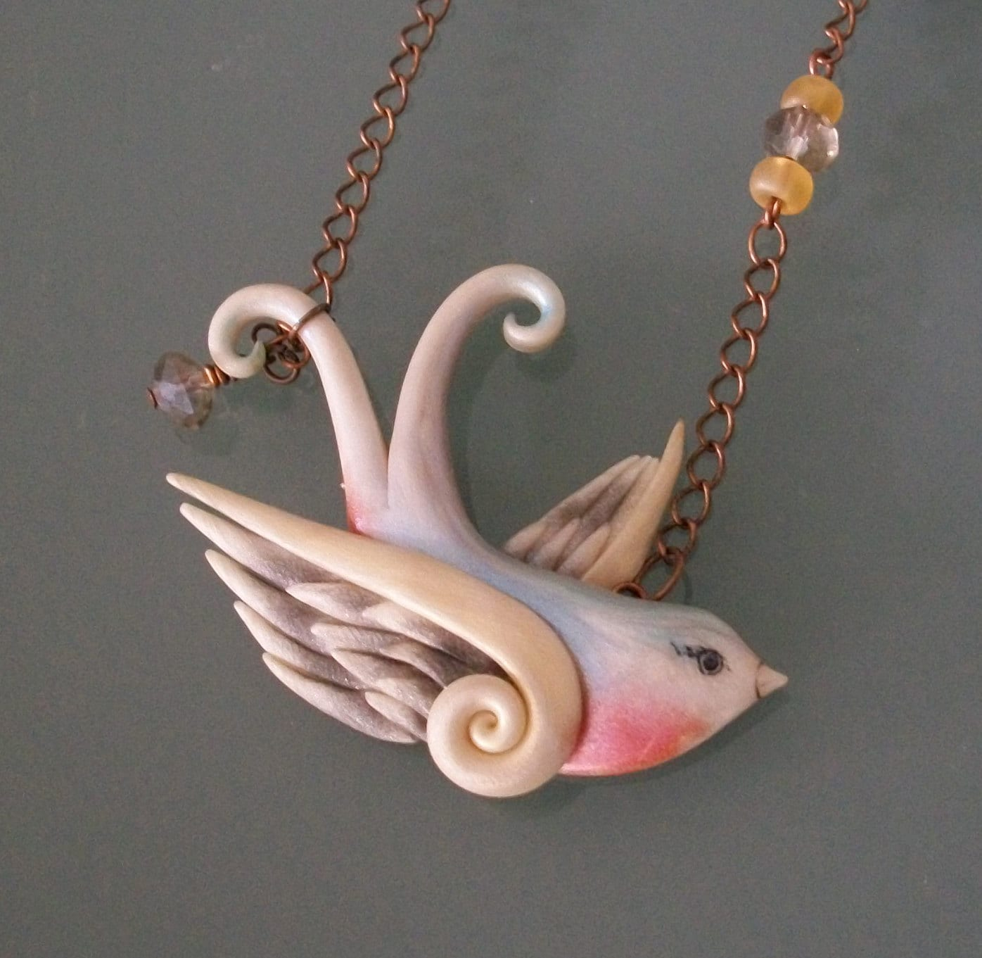 Swallow Tattoo Necklace 117