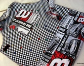 boys race car play apron lined 3 to 7 yr old kids no tie