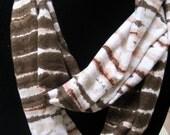 Jersey Cotton Circle Infinity Scarf tye-dye skinny gift