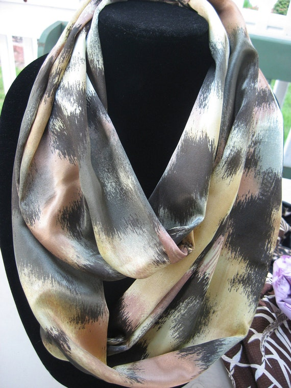 artsy Infinity Circle Mobius Scarf classic abstract sale