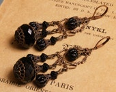Victorian Earrings in Black