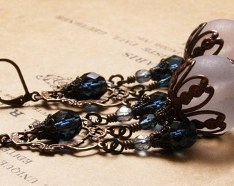 Victorian Earrings in Montana and Matte