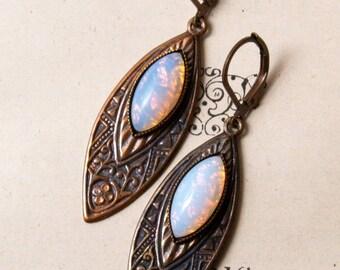 Deco Opal Glass  Earrings
