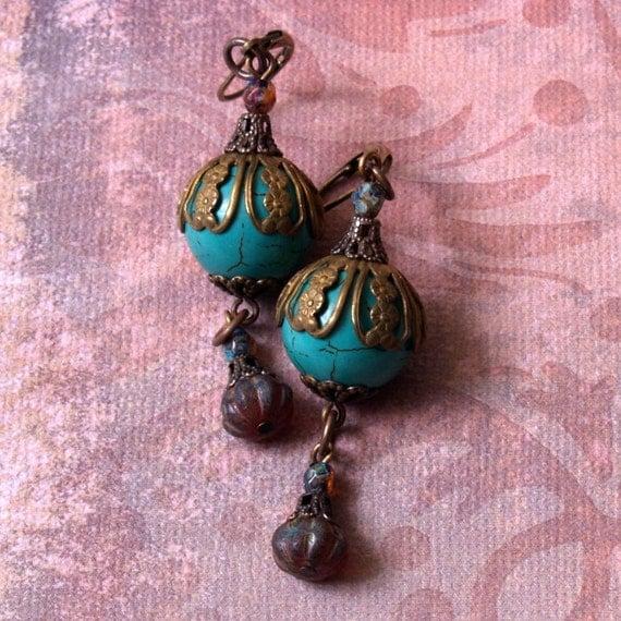Deco Lantern Earring Series Number 6