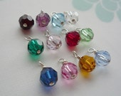 Add a Charm Birthstone Swarovski Crystal - 6mm faceted round crystal