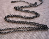 20 inch sterling silver antiqued rollo chain