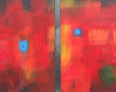 Original Abstract Art Painting-Fire Within