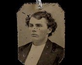Tintype Pendant - Handsome Young Man