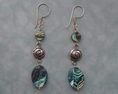 Abalone & sterling silver drop earrings
