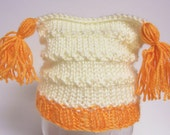 STORE WIDE CLEARANCE----EVERYTHING JUST 5.00---Hand Knit Newborn Tassel Hat