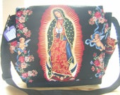 Our Lady of Guadalupe Messenger or Diaper Bag