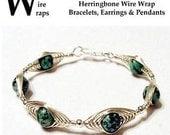 Herringbone Wire Wrap Wrapped Bracelet Pendant Earrings and Jewelry Instructional Technique Tutorial DVD
