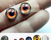 10mm Fire Eyes Handmade Glass Taxidermy Doll Eyes Cabochons for Steampunk Jewelry and Pendant Making