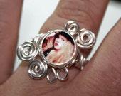 Adjustable  Wire Wrap Swirl Stevie Nicks Ring 3