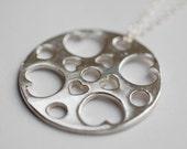 Silver Mini Love Mandala Pendant