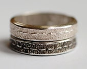 Silver Stitch Texture Ring