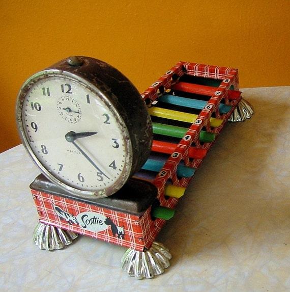 SCOTTIE vintage xylophone dog assemblage art 1000 PIECES no.39