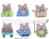 Kitty's hamster DAD stickers
