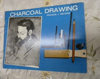 Charcoal Drawing by Meyers Vintage How To Book