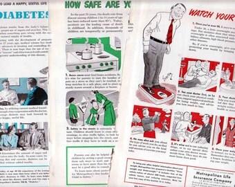 Three Antique Ads Metropolitan Life Insurance Company Health