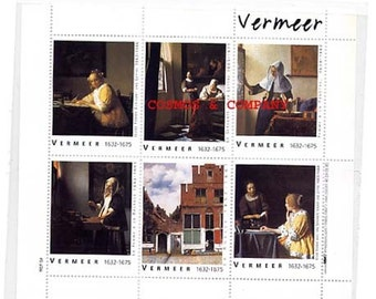 Vermeer Artists stamps Woman at the Window and Others