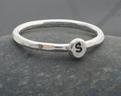 Sterling Silver Initial Letter Stacker Ring