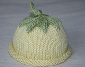 fresh sprout baby hat- yellow