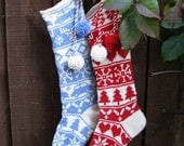 Sleipnir: Christmas Stockings Knitting Pattern For Boys & Girls