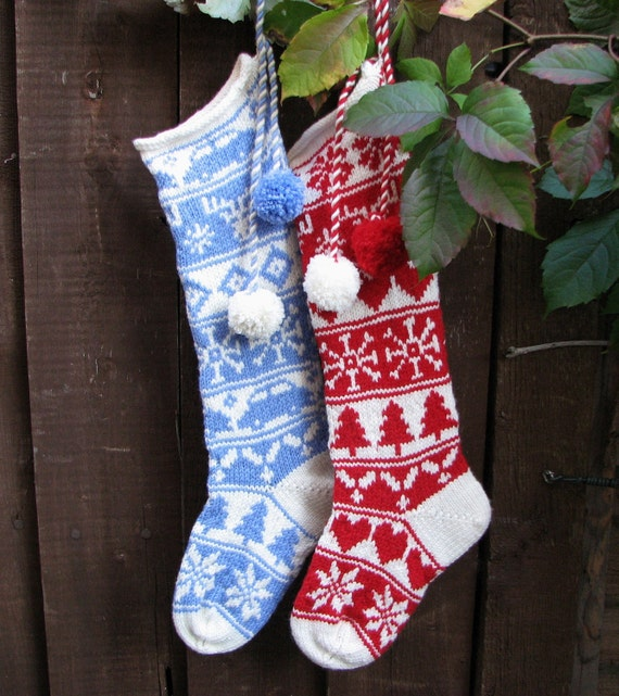 Knitting Pattern Child s Christmas Stocking : Items similar to Sleipnir: Christmas Stockings Knitting Pattern For Boys &...