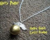 Harry Potter Golden Snitch Locket Necklace