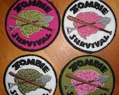Zombie Brain Survival Walking Dead Patch Merit Badge