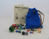 Shooting Marbles Set with cloth bag