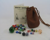 Shooting Marbles Set with leather bag