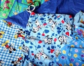 LOT--Children's cloth bags, various sizes, Pooh, Mickey, Rugrats