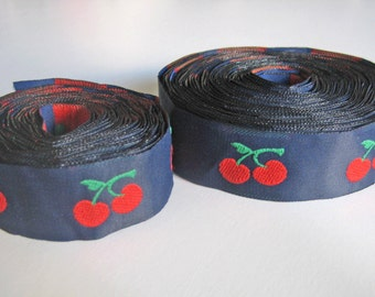 Cherry Ribbon Trim 11.5 yards