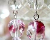 Crystal Plum Earrings