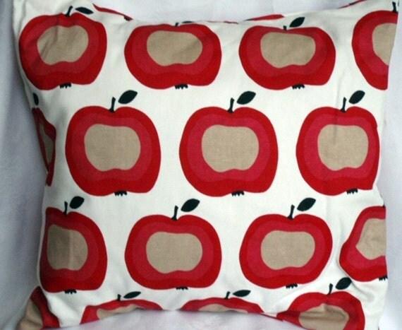 Retro flower cushion cover Apple print 16 inch pillow