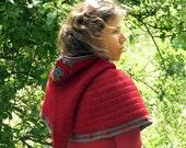 Jehanne capelet - Long pixie hood capelet with granny squares bobble - PDF crochet pattern Instant download  -  Elf hood