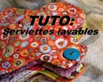 Patron de couture facile en FRANCAIS - Faites vos propres serviettes hygieniques lavables - ecologique et recyclage