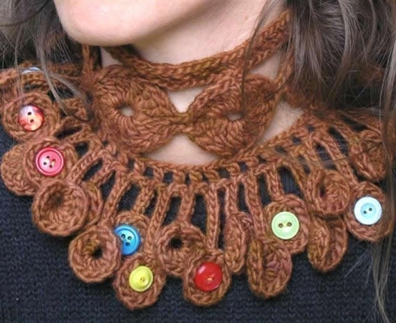 Dancing poppies cowl and scarf - Crochet pattern in PDF