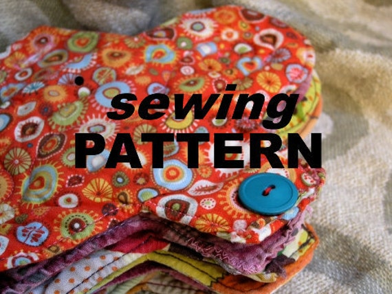 Cloth menstrual pads  - easy SEWING PATTERN to make your own reusable sanitary pads