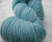 SALE YARN, Mohair and Wool DK / Light Worsted Yarn, Half Pound, Clear Skies Ahead