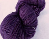 SALE YARN, Mohair / Wool DK Yarn, Half Pound, Mad Love Purple colorway