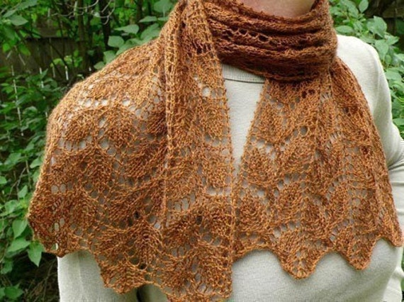 PATTERN Elm Row Knit Scarf by FearlessFibers on Etsy