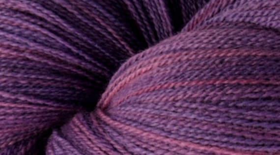 Laceweight Merino Wool Yarn, 2-ounce skein, Mad Love Purple