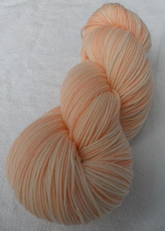 SOCK YARN - Merino / Cashmere / Nylon Sock Yarn, Whisper of Salmon colorway